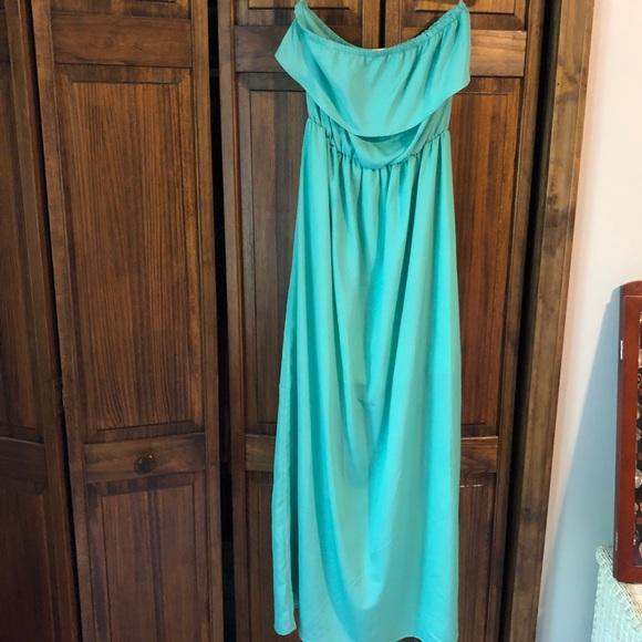 vestique Dresses & Skirts - Vestique Maxi Seafoam Green Strapless Dress